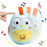 Hanging Rattle Stroller Toys,Dmeixs Roly-poly Educational Owl Toys Baby Infant Newborn Toys with Rolling eyes for Toddlers and Kids