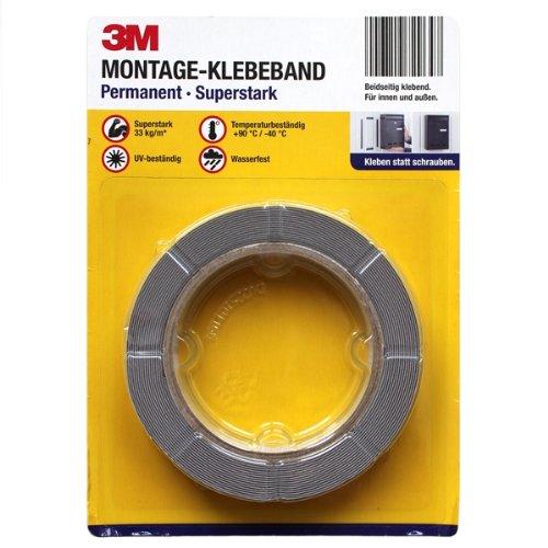 3M-Doppelseitiges Montage Klebeband superstark//Widerablösbar 25 bis 33kg//m NEU