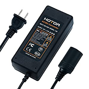AC to DC Converter, HOTOR 8A 96W 110-220V to 12V Car Cigarette Lighter Socket AC/DC Power Adapter.