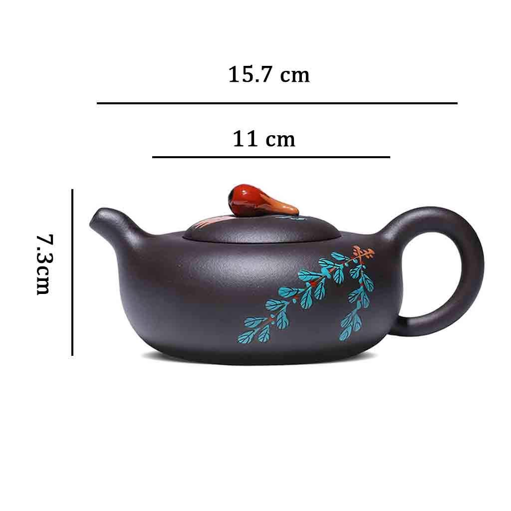 Tea Cozies Zisha Pot Pure Handmade Card Cover Household teapot Tea Set Famous Original Mineral Fruit teapot Famous Set Non-Ceramic (Color : Brown, Size : 15.7117.3cm) by Tea Cozies (Image #7)