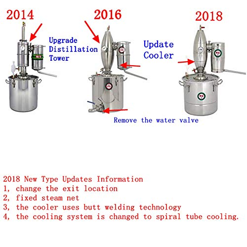 TOPCHANCES Household 50L Stainless Alcohol Sistiller Beer Wine Making Boiler by TOPCHANCES (Image #4)
