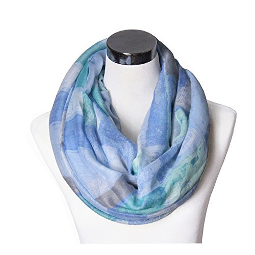 lucky-leaf-women-lightweight-cozy-infinity-loop-scarf-with-various-artist-print-blue-plaid