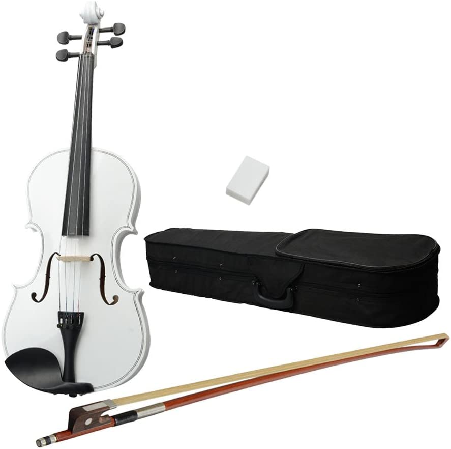 """Case Bow Rosin-White 16/"""" Inch Right Hande Adult Acoustic Viola Set"""
