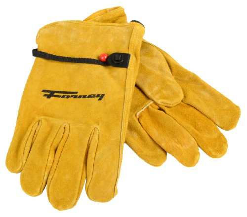 Forney 53133 Cowhide Leather Driver Suede Men's Gloves, Medium
