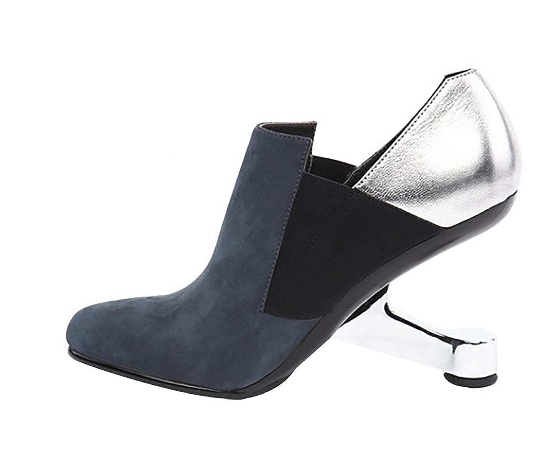 Calaier Damen LIDA 9CM Heteromorphe Ferse Ziehen Sie An An An Pumps Schuhe 017288