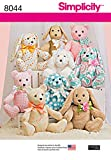 Simplicity US8044OS Children's Stuffed Animal Toy