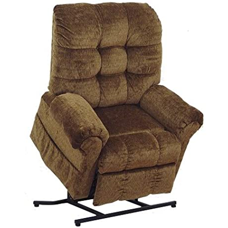 4827 2102 36 Catnapper Omni Power Lift Full Lay Out Chaise Recliner Havana Free Curbside Delivery