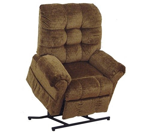 (4827-2102-36 Catnapper Omni Power Lift Full Lay-Out Chaise Recliner (Havana) Free Curbside Delivery)