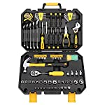 DEKOPRO Pieces Tool Set–General Household Hand Tool Kit, Auto Repair Tool Set, with Plastic Toolbox Storage Case (128PCS) 128