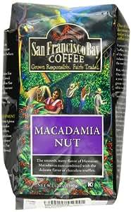San Francisco Bay Coffee Whole Bean, Macadamia Nut Coffee, 12 Ounce (Pack of 3)