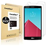 [2 Pack] iVoler [Tempered Glass] Screen Protector for LG G4, [0.2mm Ultra Thin 9H Hardness 2.5D Round Edge] with Lifetime Replacement Warranty