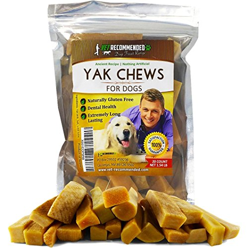 NEW Vet Recommended - Yak Chew - (20 Count / 1.54LB) Himalayan Dog Chew - The 100% Natural Healthy Dog Chew - Extreme Long Lasting Cheese Chew Made From Himalayan Yak (Game Complete Long Box)