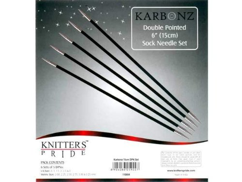 Knitter's Pride 6'' Karbonz Double Point Sock Needles Set by Knitter's Pride