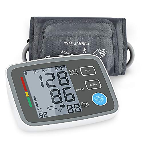 Digital Blood Pressure Monitor Arm Automatic Blood Pressure Cuff Machine with One Size Fits All Cuff, Easy to Read and Calculation Accuracy - FDA Approved by FYLINA