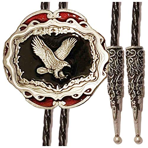 Tanside Bolotie Eagle Adler Westernschmuck Bolo Tie para se/ñoras y se/ñores Bolo Tie Bolokrawatten Cowboy Corbata lizensiert