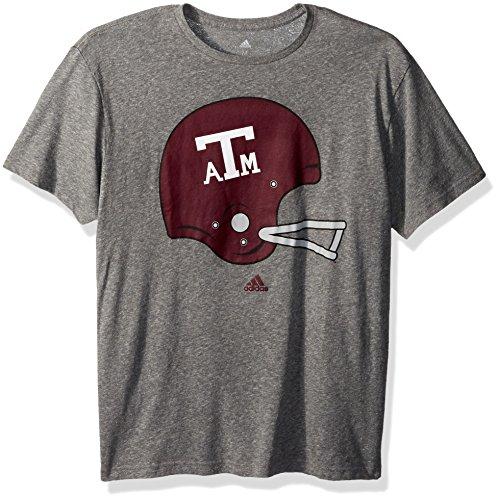 adidas NCAA Texas A&M Aggies Adult Men Vintage Logo 5 Tri-Blend S/Tee, X-Large, Dark Grey Heathered