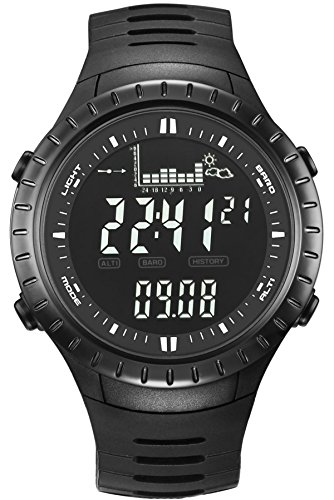 - Spovan Digital Altimeter Barometer Thermometer Outdoor Sports Watch Black