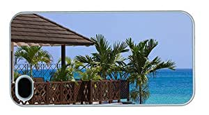 Hipster cute iPhone 4S case barbados beach resort PC White for Apple iPhone 4/4S