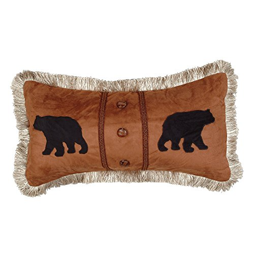 Bears Accent Pillow – Lodge Bedding Decor For Sale