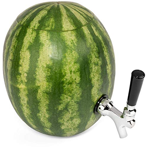 Halloween Drink Dispenser Pumpkin Keg - High Durability Stainless Steel Watermelon and Pumpkin Tapping Kit ()