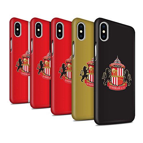 Officiel Sunderland AFC Coque / Clipser Matte Etui pour Apple iPhone X/10 / Pack 6pcs Design / SAFC Crête Club Football Collection