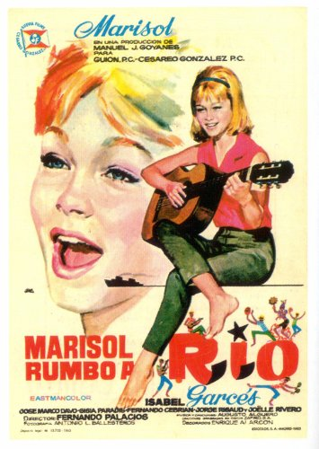 Marisol rumbo a Río Póster de película español 11 x 17 en - 28 cm x ...