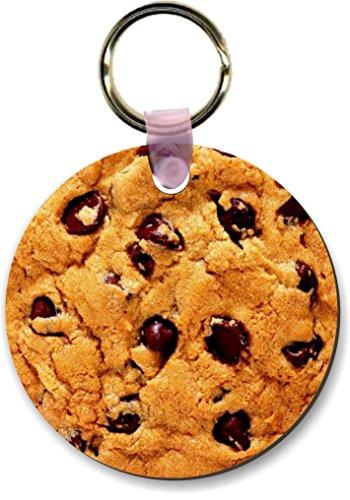 Round Shape Keychain (Rikki Knight Chocolate Chip Cookie Design Round Shape Key Chains (Set of 2),)