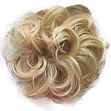 PRETTYSHOP Scrunchy Scrunchie Bun Updo Hairpiece Hair Ribbon Ponytail Extensions Curly Diverse Colors (bleach blonde 613)