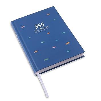 365 Life Planner - Agenda Clásica, Cuaderno Agenda Libro cuaderno en blanco Notebook Libreta Mano Escrito Viaje Agenda Anual (18.5 X 13.2 X 2 cm) ...