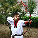 AFLS Archery Youth Bow and Arrow Set Kids Beginners Recurve Longbow Toy Games Gift Outdoor Sports Practice Target Bows for Boys Girls Left or Right Handed (15)