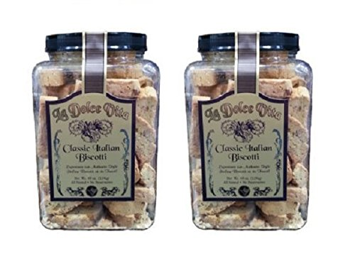La Dolce Vita Classic Italian Biscotti: 2 Jars of 40 for sale  Delivered anywhere in USA
