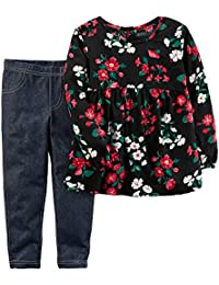 Girls' 2T-4T Floral Top and Jeggings Set