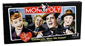 """I Love Lucy """"California Here we Come"""" Monopoly"""