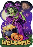 """Halloween Party Invitations w/ Envelopes - """"Witches Welcome"""" - 8 Pack"""