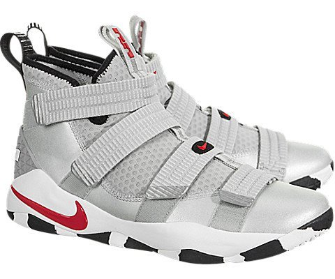 931cb7e19162 Galleon - Nike Mens Lebron Soldier XI 11 SFG Metallic Silver Varsity Red  (14 D(M) US)