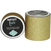 "Brand New Heidi Swapp Marquee Love Washi Tape 2""""-Gold Glitter, 8' Brand New"