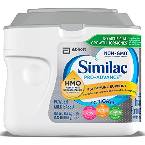 Image of the Similac Pro-Advance Non-GMO Infant Formula with Iron, with 2'-FL HMO, for Immune Support, Baby Formula, Powder, 23.2 ounces (Single Tub)