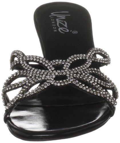 Unze Evening Slippers L18163W - Sandalias para mujer Negro