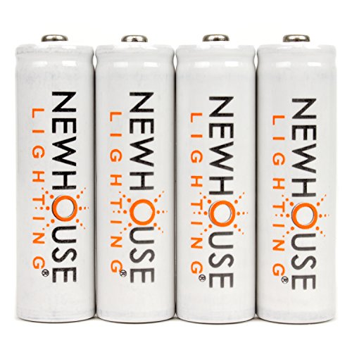 Newhouse Lighting Rechargeable 1500mah NiMH AA Batteries Opt