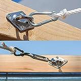 Cisvio 5 inches Sun Shade Sail Hardware Kit for