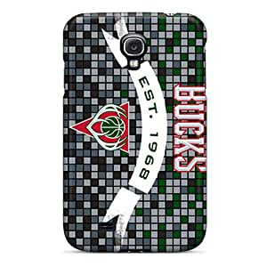 New Arrival AsF2492rbsH Premium Galaxy S4 Cases(milwaukee Bucks)