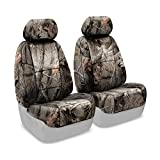 Coverking Front 50/50 Bucket Custom Fit Seat Cover for Select Acura MDX Models - Neosupreme (Realtree Hardwoods Camo Solid)