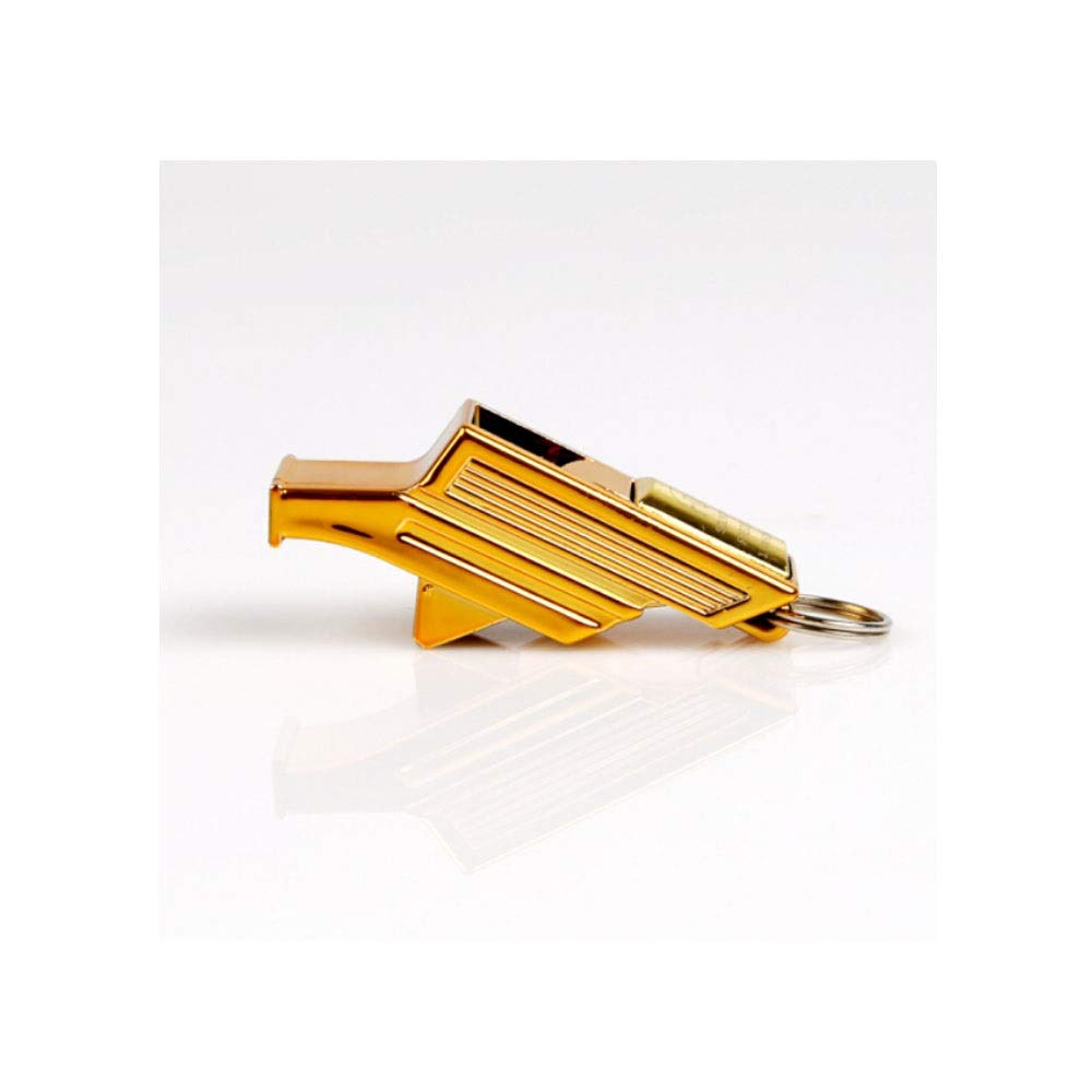 XIONGHAIZI Whistle, Football Referee Whistle, Coaching Referee Special Outdoor Sports Whistle (Gold, 5.31cm) (Color : Gold, Size : 5.31cm) by XIONGHAIZI