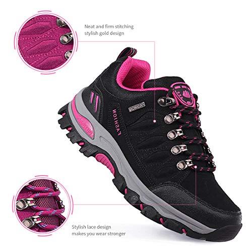 LSGEGO Unisexe Chaussures de randonnée en Plein air Bottes de randonnée Voyages décontractés Marche Bottes d'escalade… 4