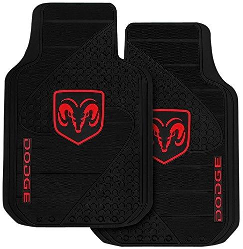Dodge Ram Head Logo - 2pc Front Floor Mats Set by U.A.A. ()