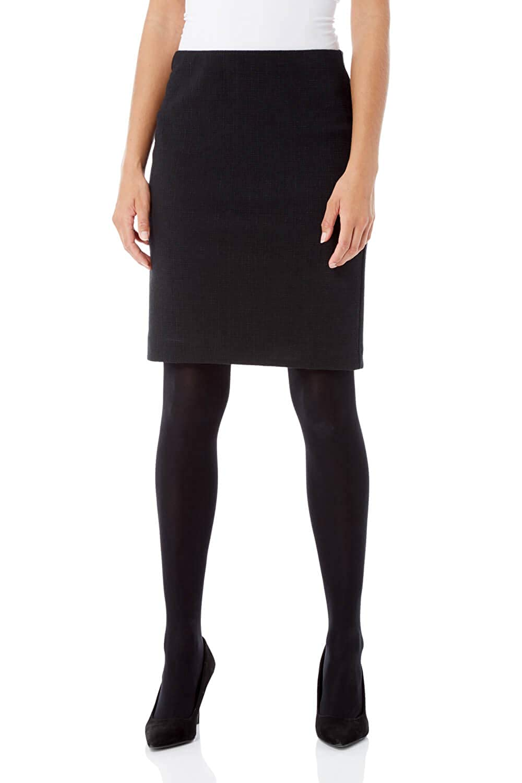 Roman Originals Women Short Textured Skirt - Ladies 23% Cotton Pencil Knee Length Smart Occasion Cocktail Work Office Interview 17000708
