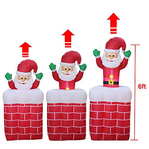 VOCOO Santa Claus  Automatically lift Christmas Interior and Exterior Decorations InThe Chimney