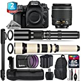 Holiday Saving Bundle for D7500 DSLR Camera + 650-1300mm Telephoto Lens + AF-P 18-55mm + 500mm Telephoto Lens + Battery Grip + 2yr Extended Warranty + 32GB Class 10 Memory - International Version