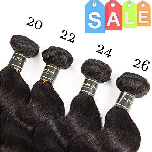 Fastyle Hair 20 22 24 26 Inches Brazilian Virgin Hair Body Wave 4 Bundles Unprocessed 10A Brazilian Body Wave Human Hair Extensions Natural Color(20 22 24 26 Inches) ... from Fastyle Hair