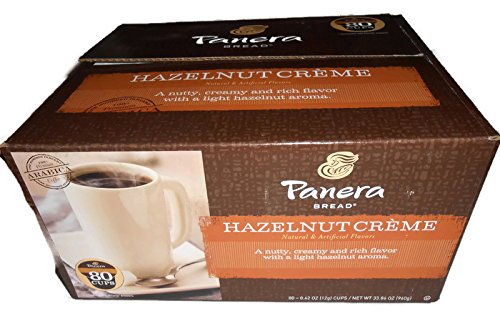 UPC 766047004448, Panera Bread Hazelnut Creme Coffee K-cup, 80 Count